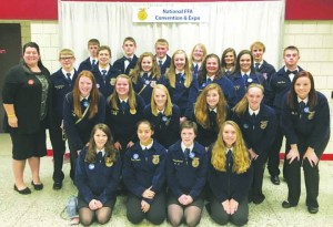 The Peebles High School FFA Chapter was recently named one of the top 10 chapters in the state of Ohio.