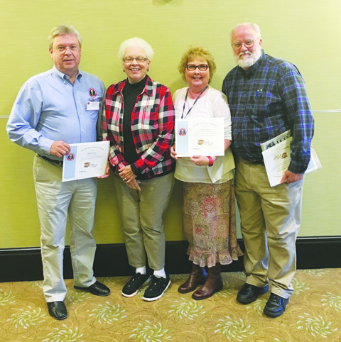 From left, Rick Foster, Kathleen Stacy, Charlie Bess, and Dave McFarland.