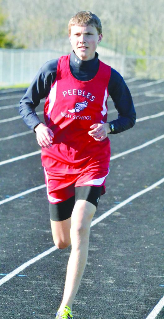 By virtue of his second place finish in the 3200 meters at the district meet, Peebles' Matthew Seas will be competing in this week's regional track meet.