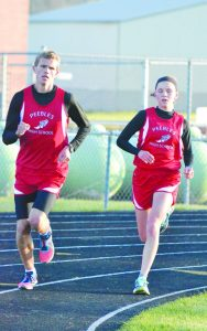 Brother and sister tandem Dan and Jenny Seas will be looking to be crowned as state champions in the 3200 Meter Run as the 2016 state track meet, held in Columbus on June 3-4. Photo by Mark Carpenter.