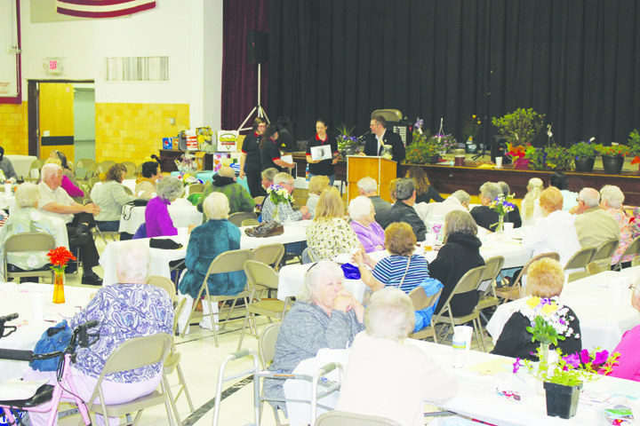 A large crowd was on hand on May 17 at the Wayne Township Community Center in Cherry Fork for the annual All-County Senior Citizens Day. Photo by Patricia Beech.