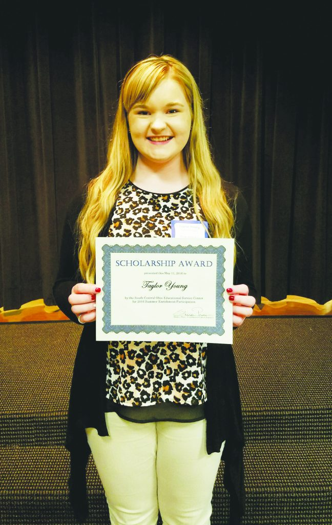 Manchester junior Taylor Young recently received the SCOESC Gifted Scholarship Award, which will help fund her trip to New York City this summer to attend Camp Fashion Design.