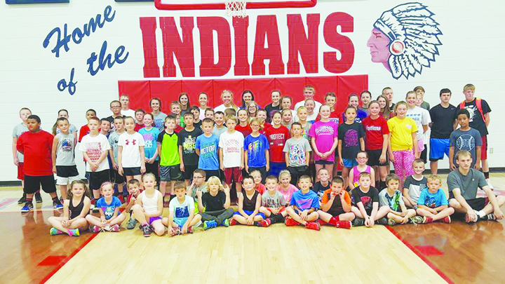 A record number of participants turned out for the morning session of the 2016 Peebles Indians basketball camp.