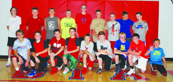 Here are the participants in the afternoon session of the 2016 Peebles Indians Basketball Camp.