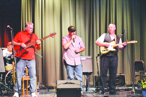 From left, Randy Copas, J.M. Tolle, and Randy Pollard were part of the entertainment at last Saturday's benefit concert.