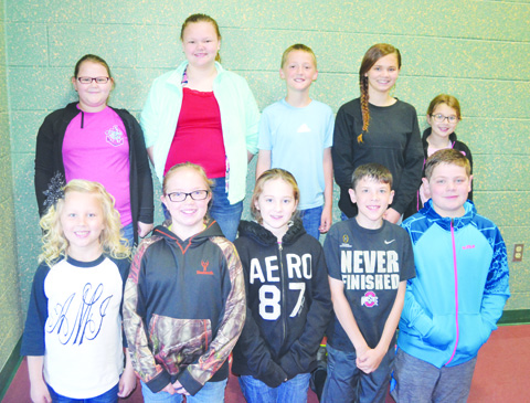 Earning the distinction of TAG Honors Readers were: Front row, from left, Alanna Mays- Third Grade NAES, Areena Goon- Sixth NAES, Jade Hawthorn- Fifth Grade NAES, Cody Hesler- Fourth Grade NAES, David Raines- Fourth Grade NAES; Back row, from left, Victoria Roessler- Fifth Grade NAES, Dakotah Davis- Sixth Grade NAES, Levi Jones- Fourth Grade NAES, Alyssa Mays- Seventh Grade NAHS, and Tatum Chaney- Fourth Grade NAES.