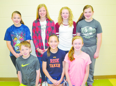 Earning the distinction of TAG Honors Readers were: Front row, from left, Adelyn Shupert- Sixth Grade WUES and Molly Purcell- Sixth Grade WUES; Back row, from left, Madison Taylor- Sixth Grade WUES, Haylee Davis- Sixth Grade WUES, and Annalisse Calhoon- Sixth Grade PES. Not pictured was Payton Johnson- Fourth Grade PES.