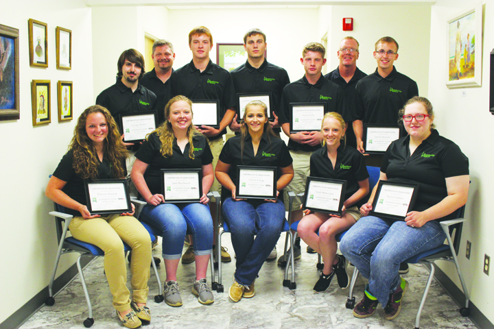 Here are the 2016 Leadership Adams Youth Academy graduates. Front row, from left, Shannon Runyan, Josie McDowell, Caitlin Young, Sarah McFarland, and Taylor Combess; Back row, from George Hesler, Facilitator-Michael Parks,Ryan Dryden, Camryn Gordley, Austin Parks, Facilitator-Tad Mitchell, and Jansen Kramer.
