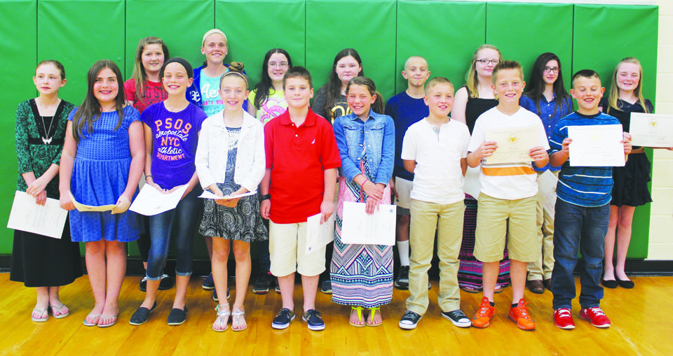 These elementary students from Peebles received the President's Award for Educational Achievement in recognition of their academic accomplishments during the 2015-16 school year.