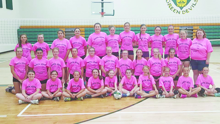 The North Adams Lady Devils volleyball program hosted their annual camp for girls grades 5-8 from May 31-June 2 at North Adams High School.