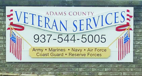 The Adams County Department of Veterans Services is located at 10835 State Route 41 in West Union.