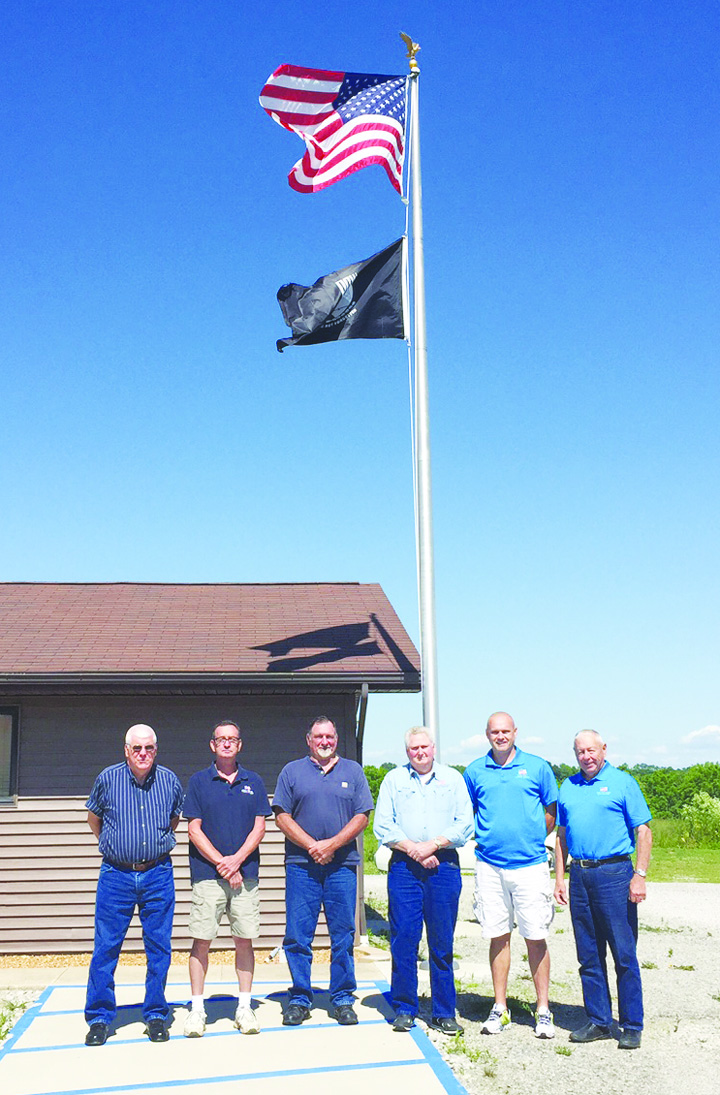 From left, Bill Conn, Dean Collins, Marvin Greene, Garry Mitchell, Russell Todd, Jr., and Jerry Naylor look after veterans' interests in Adams County.
