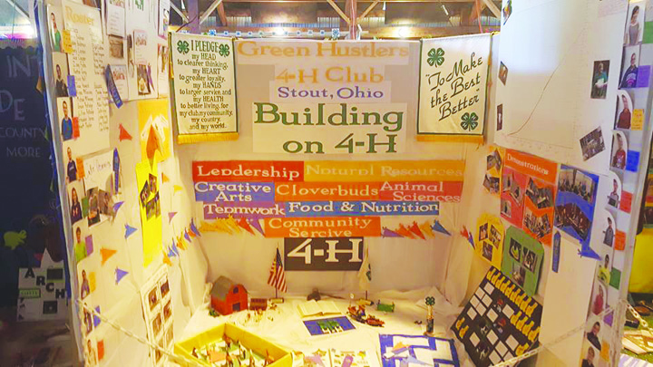 The hard work of the county's 4-H members was evident in many ways at this year's fair, including the booth displays that each 4-H club put together. Photo by Mark Carpenter.