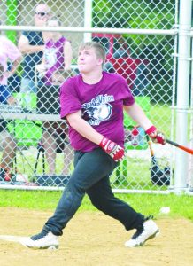 """In the """"C"""" League All-Star Game, pitcher Jake Rothwell from North Adams knocked down a comebacker, then made this underhanded throw to first base for the out."""