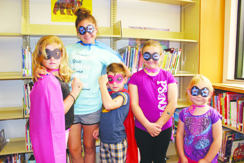 These youngsters came well-prepared for last week's visit by the Caped Crusader.