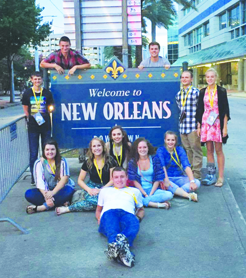 These members of the North Adams High School Beta Club recently competed in the National Convention in New Orleans.
