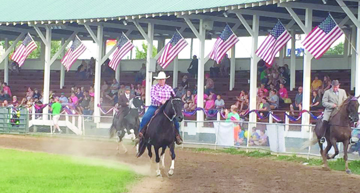 This photo taken during one of the Horse Shows at the Adams County Fair showcases the beauty and pageantry of the newly renovated grandstand at the fairgrounds, which saw plenty of use in last week's fair. Photo provided.
