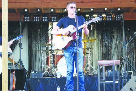 Part of the entertainment on the opening night of the fair was singer-songwriter Patrick Roush from Lynchburg, Ohio.