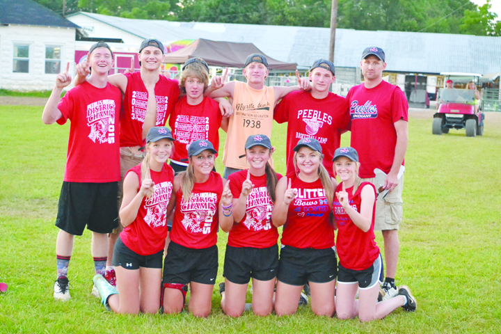 The team representing Peebles High School took home the $1,000 first prize in the 2016 Barnyard Olympics.