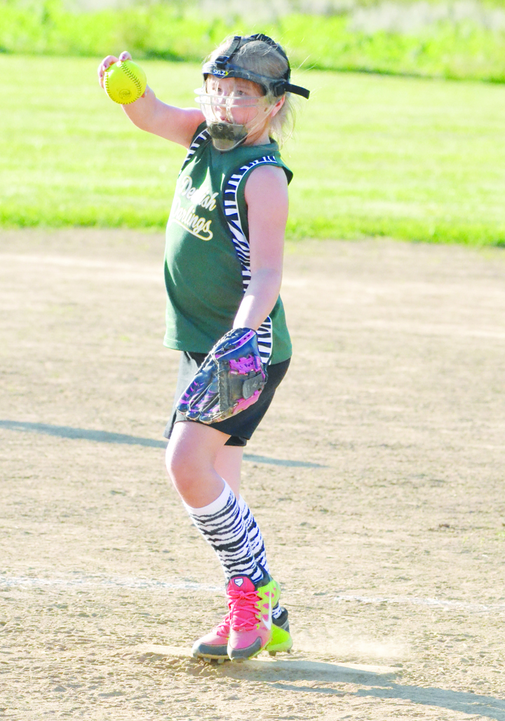 North Adams' Emma Pistole delivers a pitch during the second inning of last week's Sub-D tournament game in Ripley.