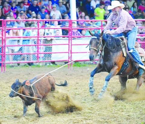 The Thursday night rodeo performance drew an estimated 1,700 people to the grandstand.  Photo by Mark Carpenter