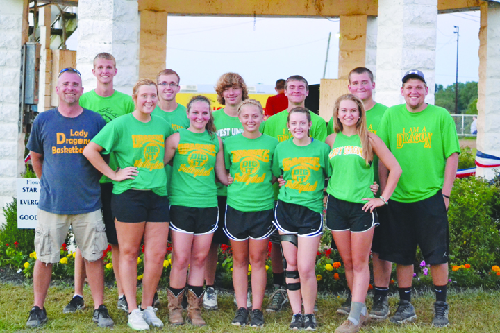 Third Place in the Barnyard Olympics and a $250 prize went to West Union High School.