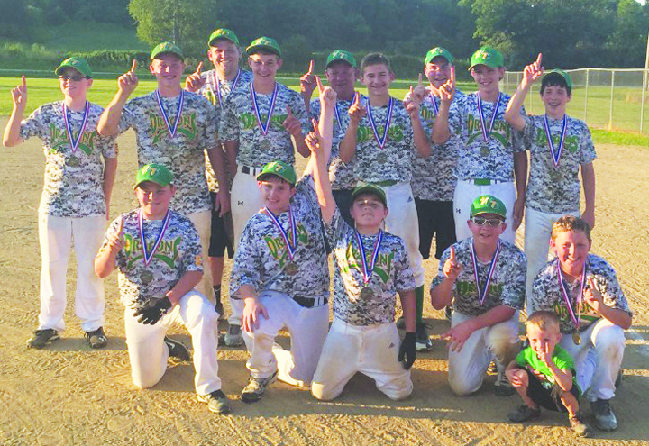 "Here are your 2016 SHYL ""B"" Baseball Tournament champions, the West Union Dragons, who finished their season with a 15-3 record."