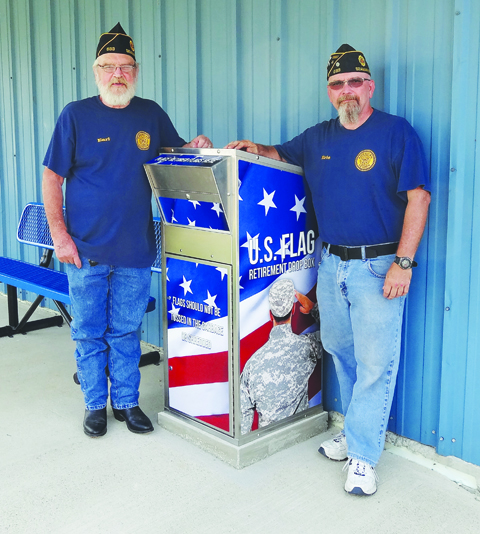Pictured are Post 633 First Vice Commander & Bingo Director, Earl Gorman and Post 633 Commander Eric Newman.