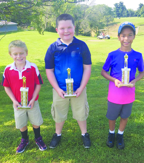 Boys Fifth Flight winners: From left, Parker Hayslip-First Place, Nate Fooce-Second Place, and A.J. Cooper-Third Place.