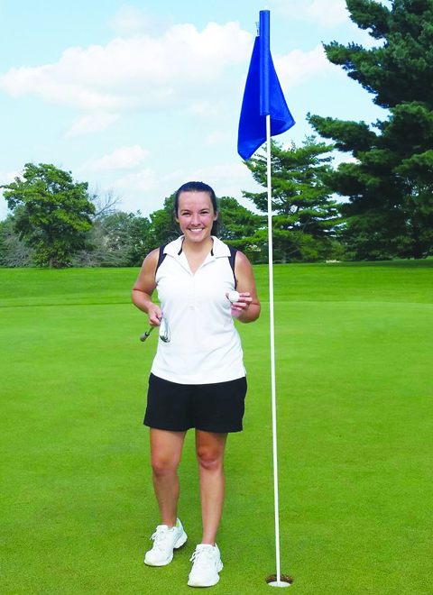 North Adams girls golf coach Rachel Herman recorded a hole-in-one last Friday on the the eighth hole at Kenton Station in Maysville.