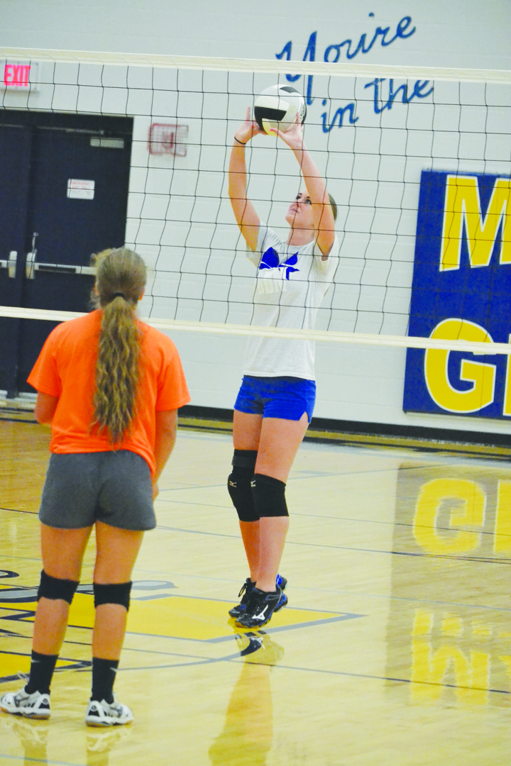 Senior Hannah Grimes will be counted on to provide leadership for the 2016 version of the Manchester Lady Hounds volleyball squad.