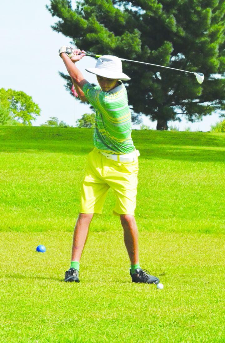 Bragging rights as the top golfer in Adams County, at least for the day, went to West Union's Elijah McCarty, who shot a 72 for 18 holes to take first place in the annual Adams County Cup competition.
