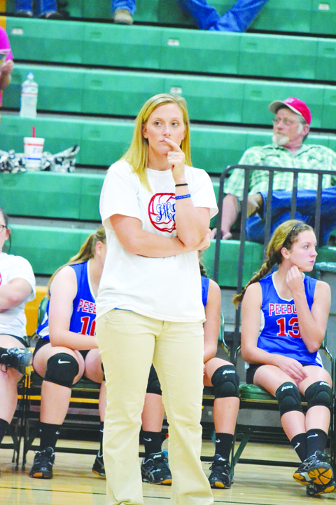 Head coach Katrina Obenshain leads the Peebles Lady Indians volleyball squad into the 2016 season.