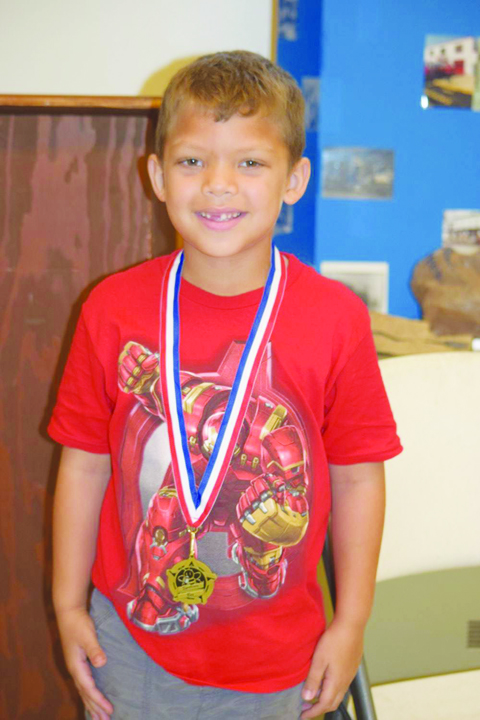 As part of the River Days celebration in Manchester, the ROCK program hosted a Spelling Bee.  One of the winners pictured here is Gabriel Reno (Second Place).
