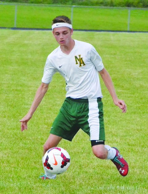 Senior Kain Turner scored a pair of goals to help the North Adams boys run away from Eastern Brown in a 7-1 win on Wednesday afternoon.