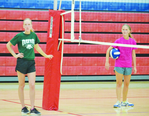 Serving practice was just one part of the three-day volleyball camp held last week for the Peebles Lady Indians volleyball squad.