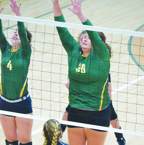 Sydney Kendall (4) and Avery Harper (30) will be two key pieces on this year's North Adams varsity volleyball squad.