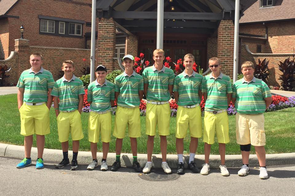 The 2016 West Union Dragons varsity golf team had the experience of a lifetime last weekend, playing a 36-hole tournament on the famed Canterbury Course in Cleveland.  Here, the team is pictured at the course, from left, Jacob Pell, Elijah McCarty, Craig Horton, Eli Fuller, Tyler Fowler and Coach Carl Schneider.