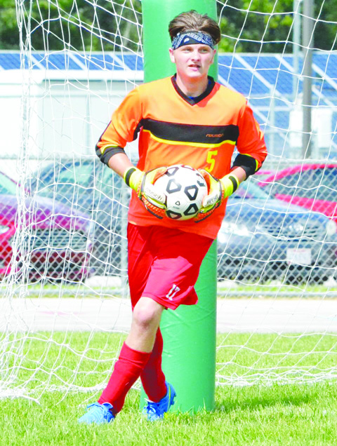 Peebles goalie Trenton Wheeler put up a shutout in his season debut as the Indians topped Portsmouth West 3-0.
