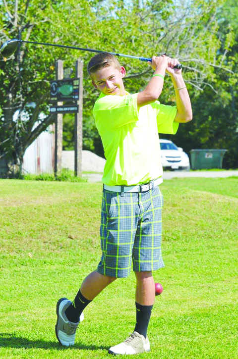 West Union's Conner Campbell led all golfers with a low score of 40 during JV play on Sept. 1 at the ACCC.