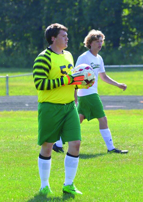 After Monday's game, players and coaches on both sides were raving about the outstanding play of West Union goalkeeper Chase Cummings, who gave up just one goal and made numerous acrobatic saves. (Photo by Jamie Puckett)