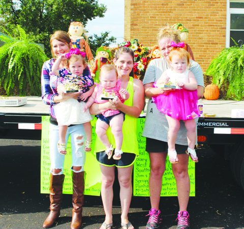 Winners in the Girls 1-Year Old category were, from left, First Place- Zaelei Croghan, Second Place- Anna Donahue, and Third Place- Paislee Warrington.
