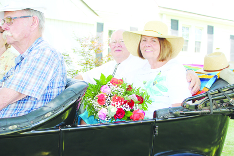 Kenneth and Sharon Corrill West, right, served as Grand Marshals of the 2016 Winchester Homecoming Festival Grand Parade.