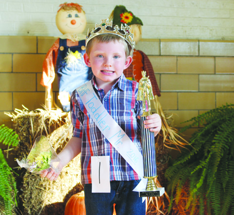 The winner in the Little Mister Toddler contest was Jayven Day.