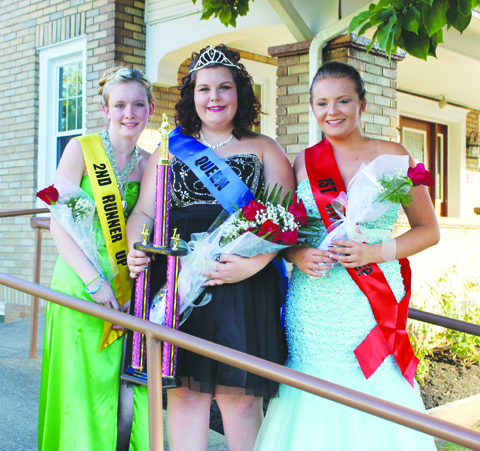 The 2016 Winchester Homecoming Festival Queen Contest was held on Friday, Aug. 26 with Haley Porterfield being crowned as the 2016 Queen.  Porterfield, center, is pictured here with Second Runner-Up Kristian Alcorn, left, and First Runner-Up Paige Demlow, right.