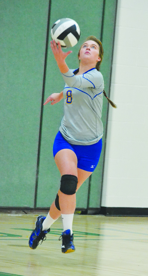 The solid serves of Manchester junior Katie Sandlin proved to be the clincher in the fifth and final set as the Lady Hounds picked up their first win of the year, topping West Union on Aug. 30.