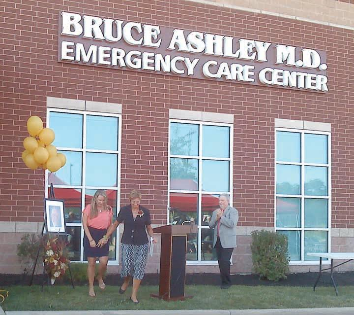 "On Sept. 22, the Adams County Regional Medical Center held a ceremony to honor a special man and to rename the hospital's emergency room in his honor.  Dr. Bruce Ashley served the Adams County community for many years before unexpectedly passing away and in his honor, the ceremony on Thursday christened the new ""Bruce Ashley, M.D. Emergency Care Center.""  Pictured above at the dedication ceremoney are, from left, daughter Jade Ashley, wife Sharon Ashley, and ACRMC CEO Roland Gee.  Photo by Kaiajade for The People's Defender"