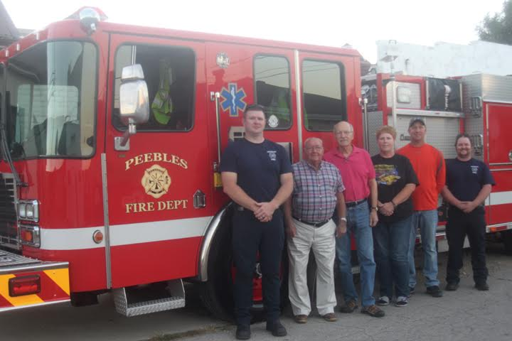 Pictured, from left, Captain Craig VanFleet, Trustee Paul Baker, Trustee Joe Gardner, Fiscal Officer Carla Wesley, Trustee Josh Lloyd, and Lieutenant Dustin Freeze.