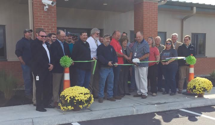 ODOT representatives, along with state and public officials, were part of the contingent on hand on Sept. 28 for the ribbon-cutting ceremony at the new ODOT maintenance facility in West Union.