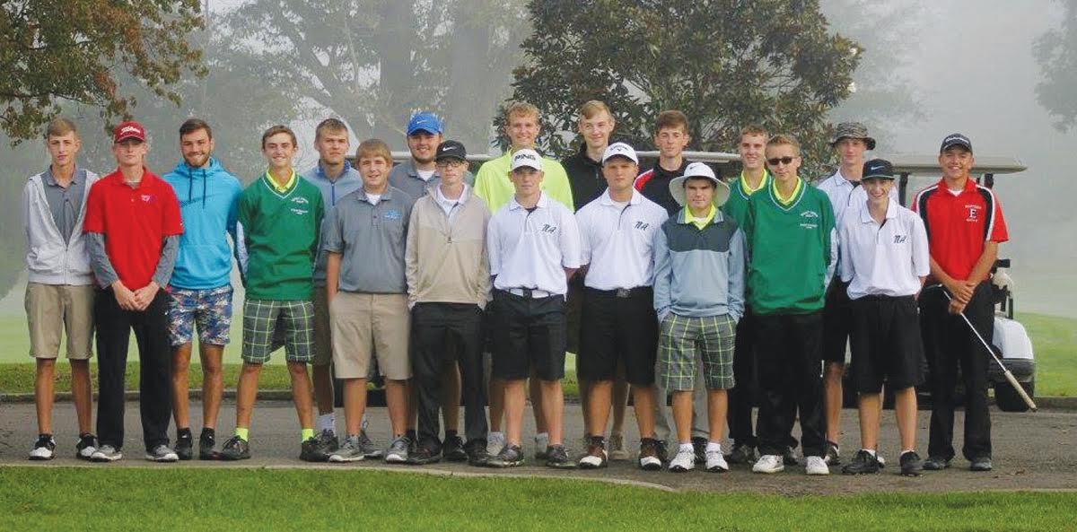 Southern Hills Athletic Conference was well represented at the Boys Division III District Golf Tournament on Oct. 3 at the Elks County Club in Portsmouth. Golfers from West Union, North Adams, Manchester, Peebles, Lynchburg, and Eastern Brown all participated, with West Union finishing first and North Adams second overall, sending them both on to the state tournament next week. Photo by Patrice Yezzi England